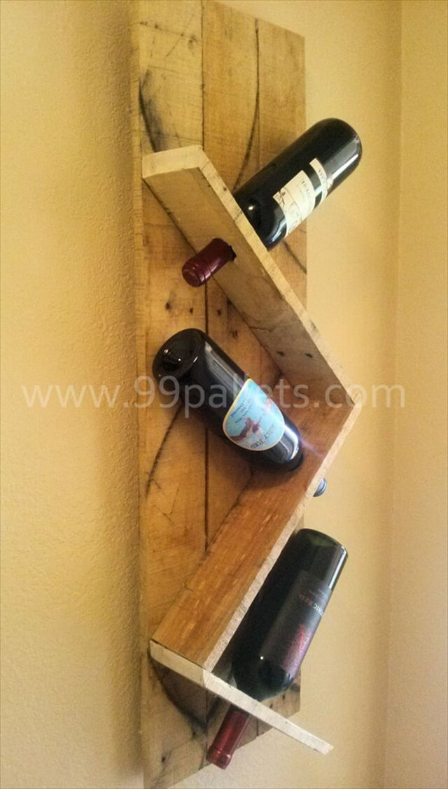 Diy Unique Pallet Wine Rack 99 Pallets