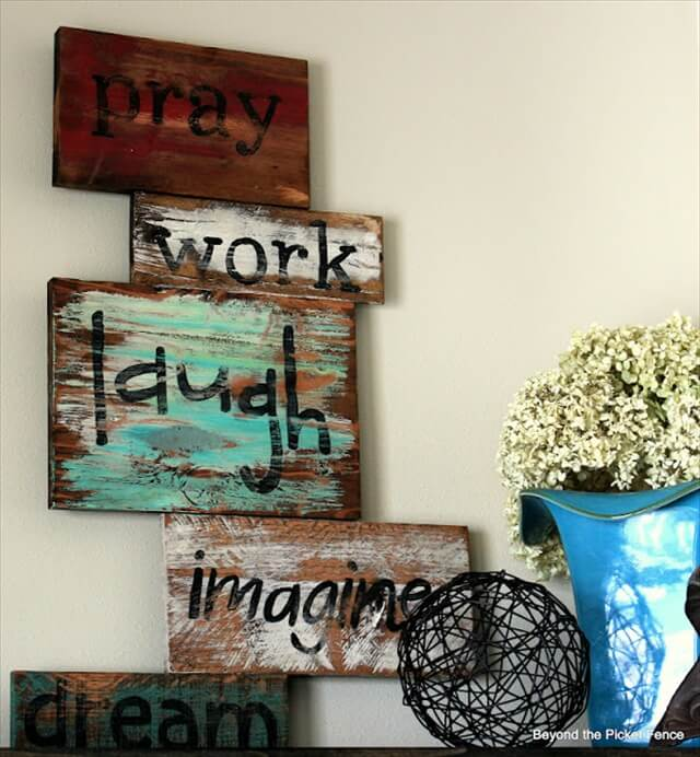 Diy Wise Words Art Over Pallets Wood 99 Pallets