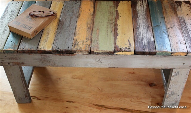 Diy Bench Made From Wooden Pallets Tutorial 99 Pallets