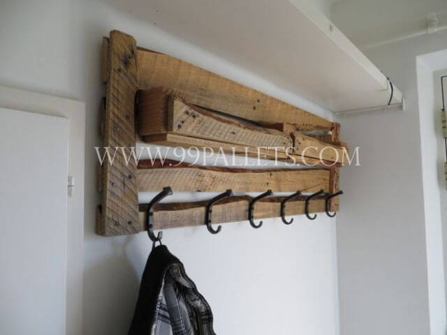 wooden coat rack plan