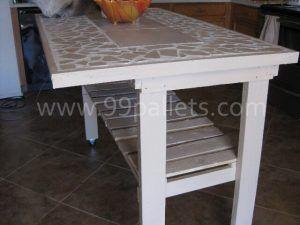 Pallet Island Kitchen Table