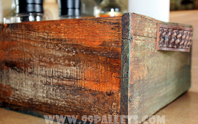 Wooden Storage Box Made from Old Pallets