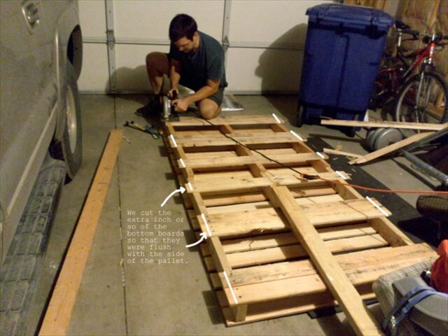 pallet tutorials diy twin pallet bed instructions 99