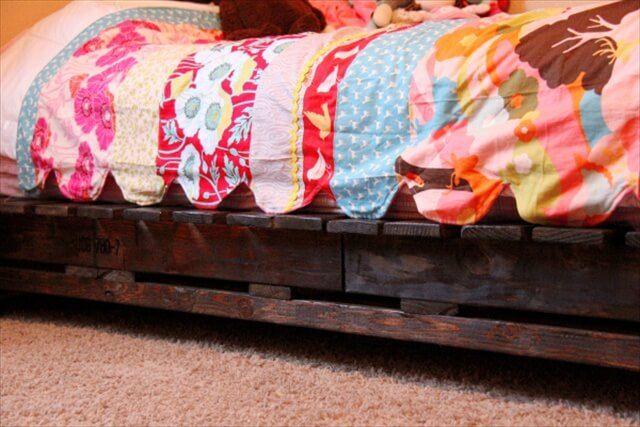 Pallet Tutorials Diy Twin Pallet Bed Instructions