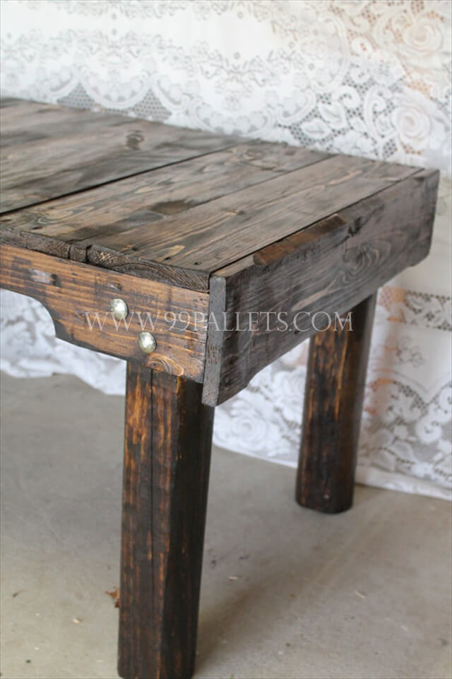 Wood Pallet Coffee Table ~ Handmade wood pallet coffee table pallets
