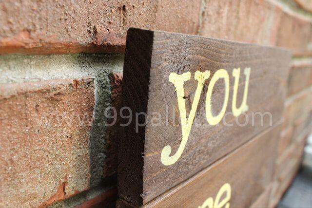 Wooden Sign Pallet Art