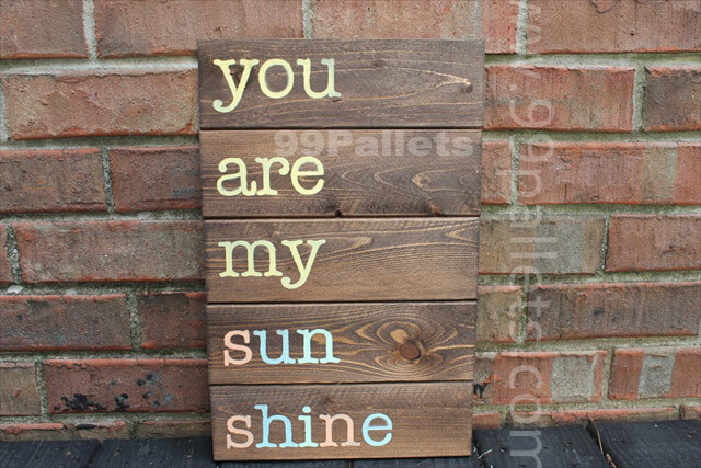 Wooden Sign Pallet Art