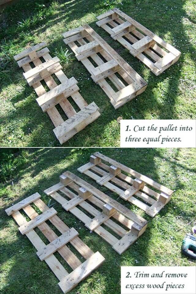 cut wooden pallet