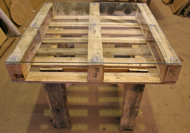 Instructions for outdoor pallet furniture for Palette table de jardin