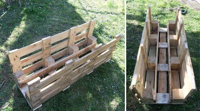 make a pallet planter