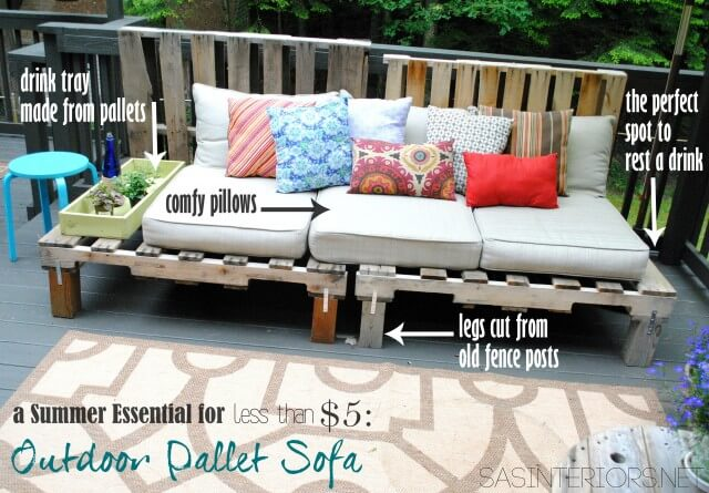 diy pallet wood outdoor sofa 99 pallets