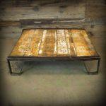 Industrial Pallet Art: Rocker Coffee Table