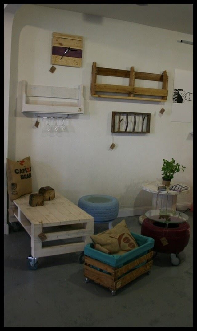 diy home decor ideas with pallets diy pallet home decor and utility items 99 pallets 13204