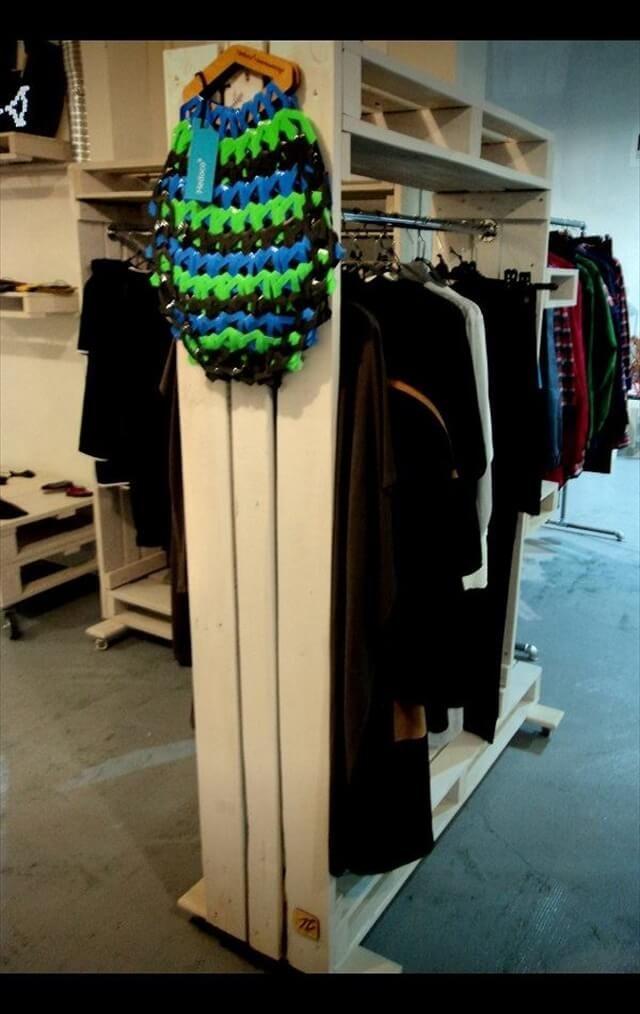 pallet wardrobe