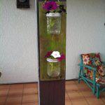 DIY Pallet Mason Jar Hanging Wall Accents