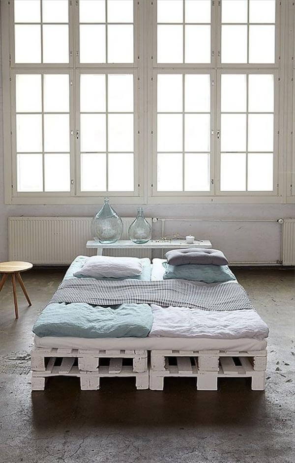 diy platform bed with pallets