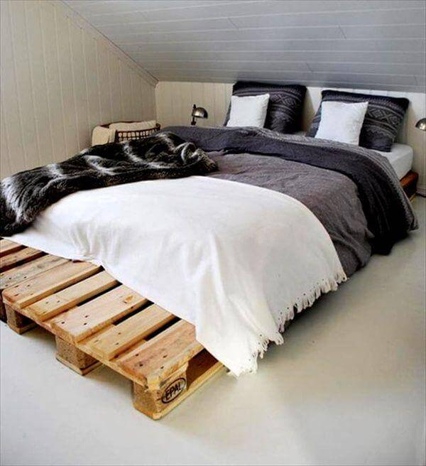 wooden pallet beds frame