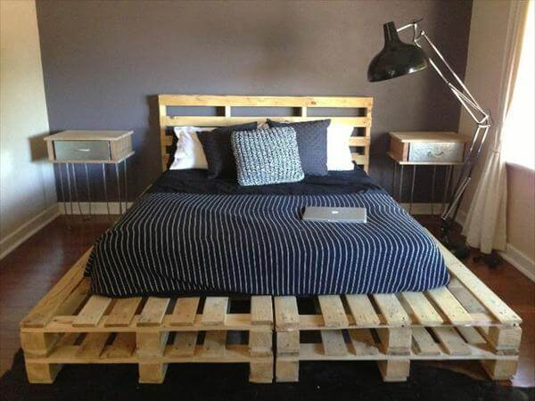 Pallet Bedroom Furniture diy 20 pallet bed frame ideas | 99 pallets