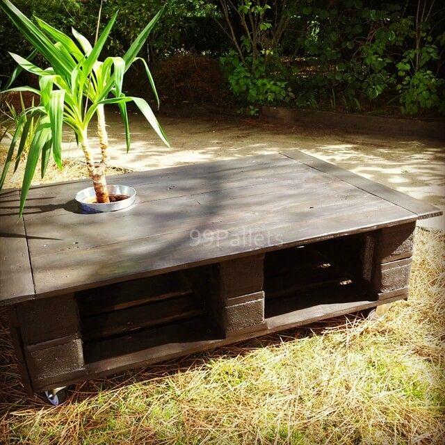 DIY Pallet Outdoor Coffee Table