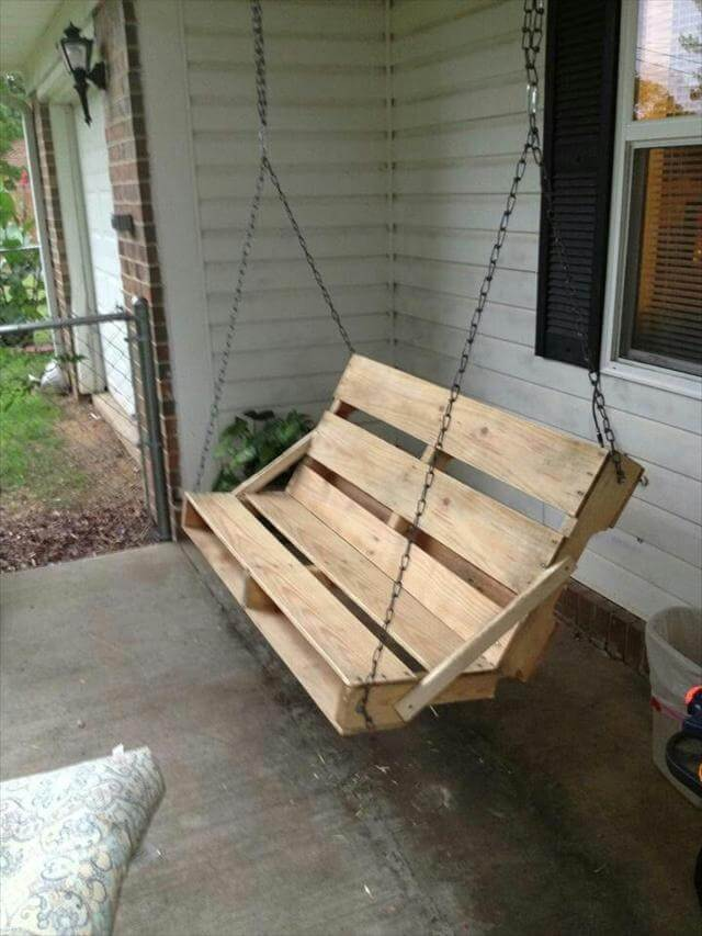 Pallet Patio Swing 40 diy pallet swing ideas | 99 pallets