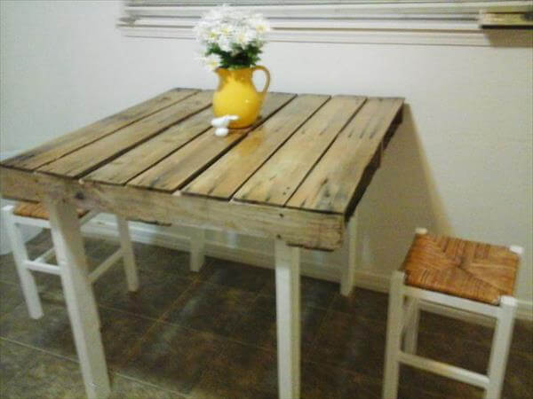 diy pallet coffee table desk with chairs
