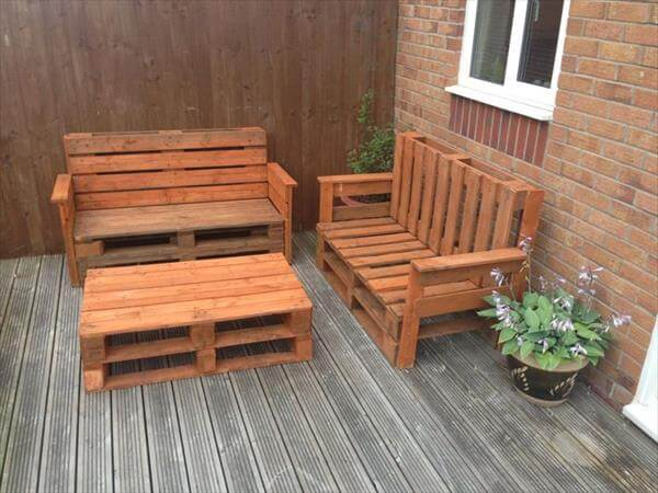 diy pallet coffee table and sofa set
