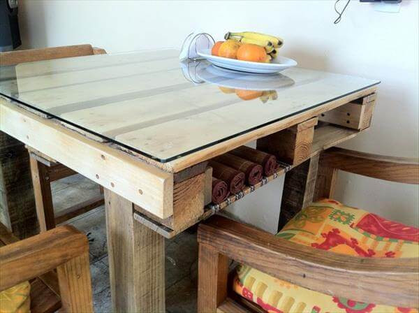 25 unique diy pallet table ideas 99 pallets - Fabriquer une table a manger en palette ...