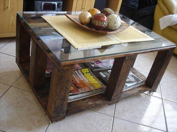 diy pallet coffee table idea