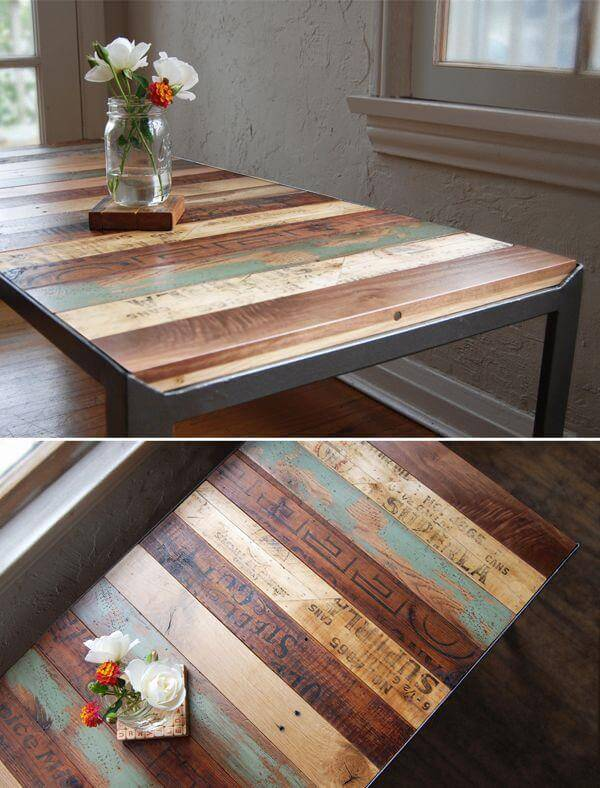 25 unique diy pallet table ideas 99 pallets - Idee table basse palette ...