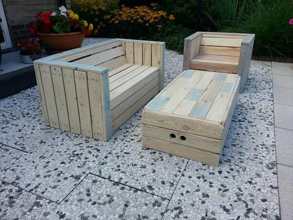 Pics For > Diy Pallet Deck Furniture
