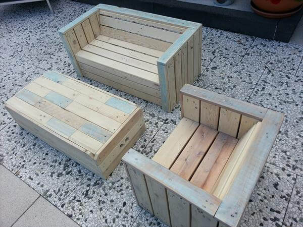 Garden Furniture Pallet outdoor furniture made with pallets | 99 pallets