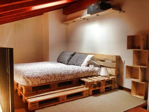 DIY Beds Made From Wooden Pallets 9 DIY Easy Wooden Pallet Bed Ideas