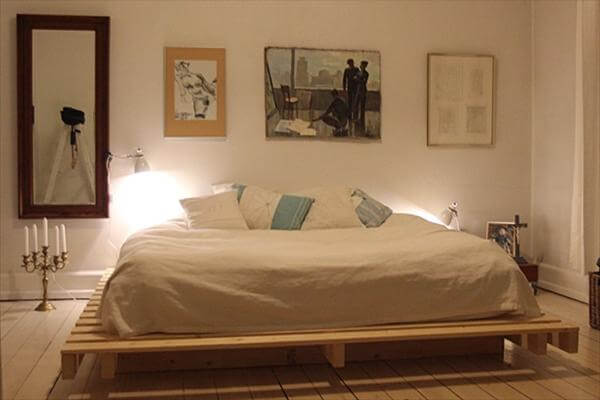 wooden plank bed frame 1
