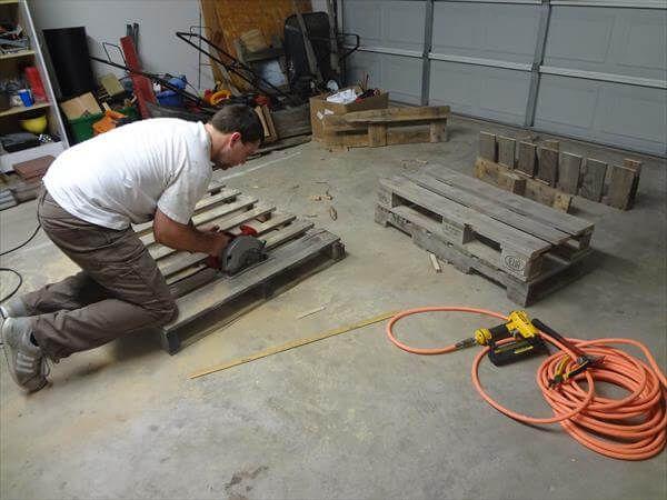 cut the pallets