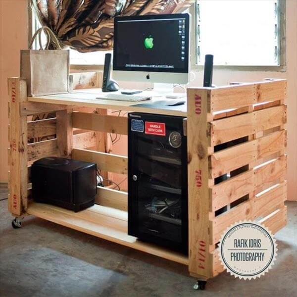 Computer Desk Made From Pallets 99