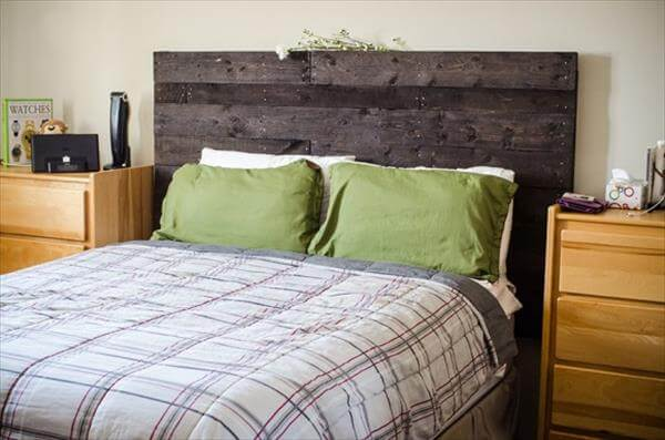 Make a headboard from pallets 99 pallets for How to make a headboard out of pallets