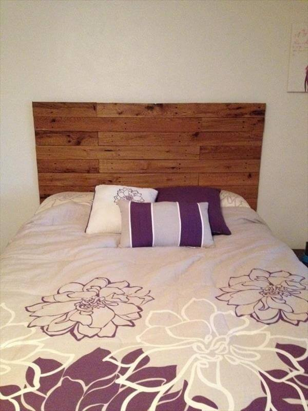 diy simple pallet headboard