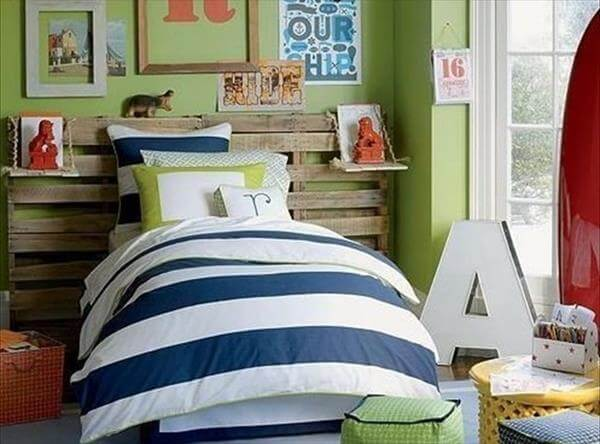 pallet headboard for kids