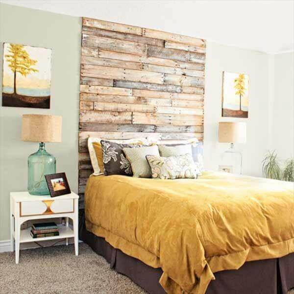 king sized pallet headboard