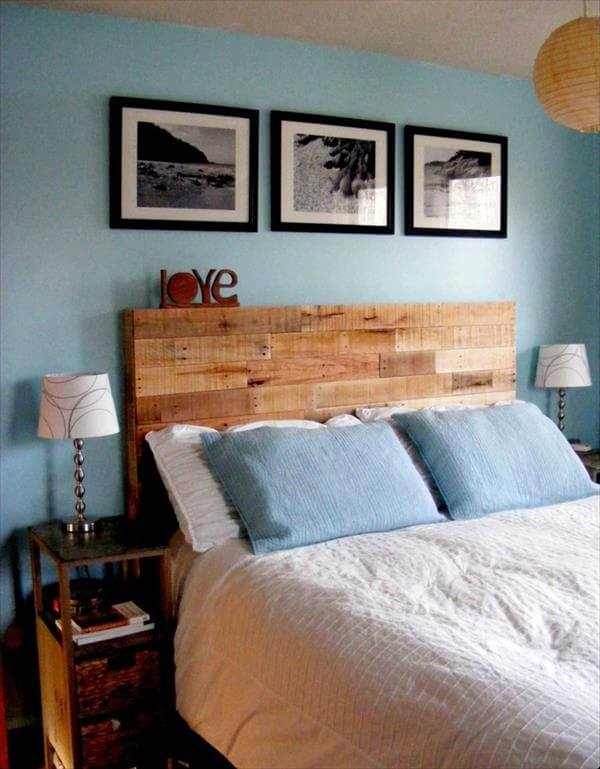 wooden pallet headboard ideas