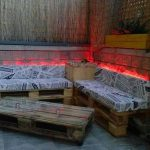 DIY Pallet Sofa and Table with Lights