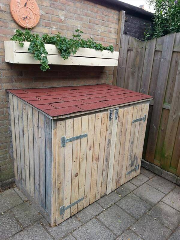 pallet storage bin