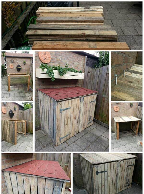 pallet storage bin project