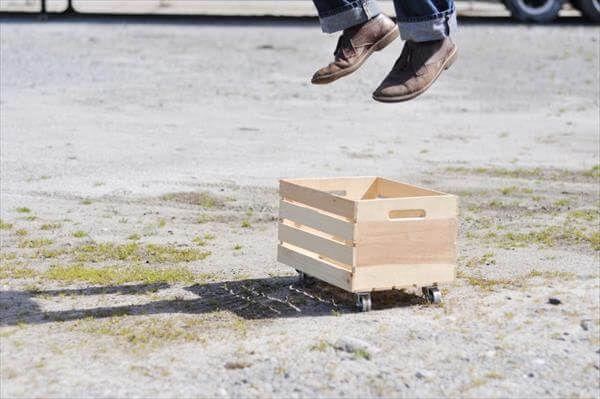 diy rolling crate idea