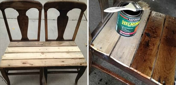 paint the pallet bench