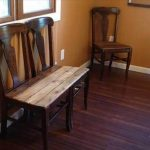 DIY Pallet Bench from Chairs