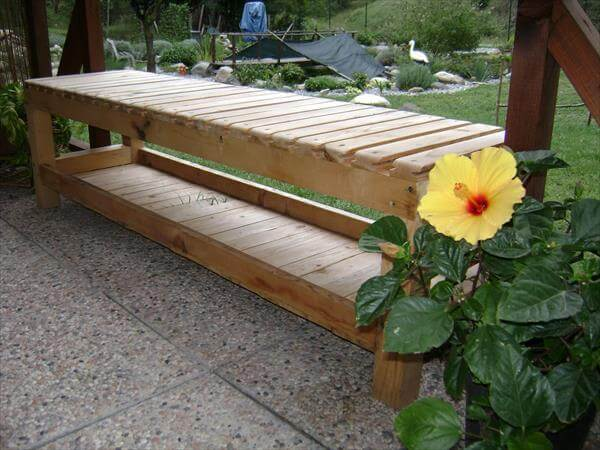 DIY Pallet Bench With Cushions 99 Pallets