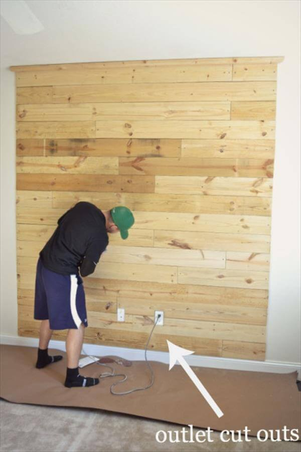 How to make pallet headboard on wall 99 pallets for How to make a headboard out of pallets