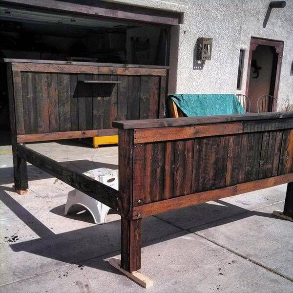 pallet bed frame idea