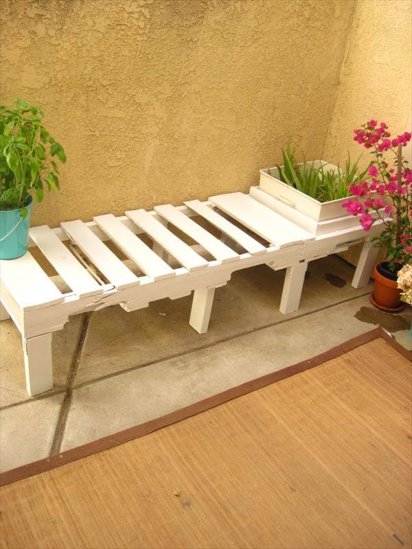 DIY Pallet Bench Instructions With Planter Box 99 Pallets